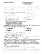 Đề thi thử Đại học môn Lý 9