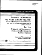 Assessment of source of air water and land pollution