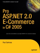Pro ASP NET 2 0 E Commerce in C 2005