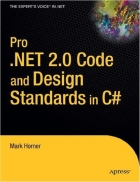 Pro NET 2 0 Code and Design Standards in C