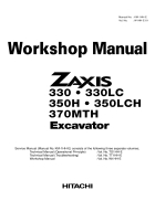 Shop manual máy đào HITACHI ZAXIS330