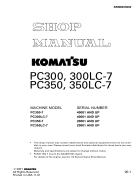 Shop manual máy đào KOMATSU PC300