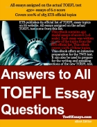 Answer to all TOEFL essay