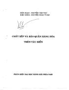 Chất xếp và bảo quản hàng hóa trên tàu biển TS Nguyễn Văn Thư