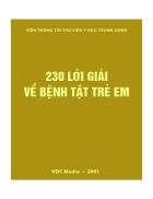 230 lời giải về bệnh tật trẻ em