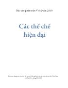 Báo cáo phát triển Việt Nam năm 2010 Các thể chế hiện đại