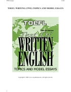 185 TOEFL Writing TWE Topics and Model Essays