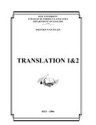 Giáo trình Translation 1 2 Đại học Ngoại ngữ Huế