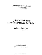 Tài liệu ôn thi tuyển sinh sau đại học Môn English