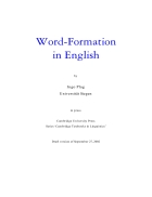 Word Formation in English Textbooks in Linguistics