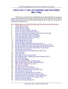 Cách xử lý 326 lỗi thường gặp khi dùng máy tính