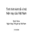Tình hình kinh tế vĩ mô hiện nay của Việt Nam
