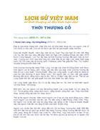 Lịch Sử Việt Nam từ thời thượng cổ đến hiện đại