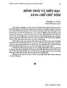 Hình thái và niên đại sáng chế chữ nôm Chingho A Chen