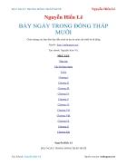 Ebook BẢY NGÀY TRONG ĐỒNG THÁP MƯỜI Nguyễn Hiến Lê