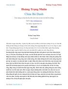 Ebook Chùa Bà Đanh Hoàng Trọng Muôn