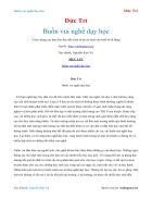 Ebook Buồn vui nghề dạy học Đức Trí