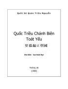 Ebook Quốc triều Chánh Biên Toát Yếu
