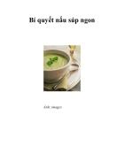 Bí quyết để nấu các món súp ngon