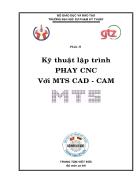 Kỹ thuật lập trình phay CNC với MTS CAD CAM