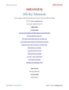 Ebook Hồi Ký Sihanouk SIHANOUK