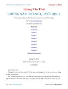 Ebook NHỮNG NĂM THÁNG QUYẾT ĐỊNH Hoàng Văn Thái