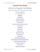 Ebook Hồi ức về Nguyễn Văn Huyên Nguyễn Kim Hạnh
