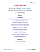 Ebook Mười câu chuyện văn chương Nguyễn Hiến Lê
