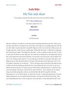 Ebook Hà Nội một thuở Anh Đức
