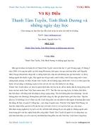 Ebook Thanh Tâm Tuyền Tỉnh Bình Dương và những ngày dạy học Võ Kỳ Điền