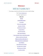 Ebook HỒI KÝ KHRUSEV Khrusev