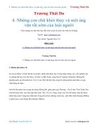 Ebook Những con chữ khởi thủy và một áng văn rất sớm của loài người Trương Thái Du