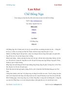 Ebook Chế Bồng Nga Lan Khai