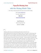 Ebook nhà thơ Hoàng Minh Châu Nguyễn Hoàng Sơn