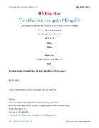Ebook Tìm kho báu của quân Mông Cổ Hồ Đắc Duy