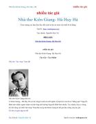 Ebook Nhà thơ Kiên Giang Hà Huy Hà