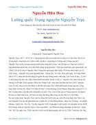 Ebook Lưỡng quốc Trạng nguyên Nguyễn Trực Nguyễn Hữu Hoa