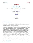 Ebook Mai Hắc Đế Ca Dao