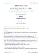 Ebook Hiến pháp Việt NamDCCH 1946 Nhóm biên soạn