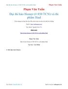 Ebook Đại thi hào Homer và thi phẩm Iliad Phạm Văn Tuấn