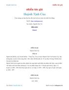 Ebook Huỳnh Tịnh Của nhiều tác giả