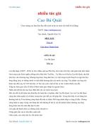 Ebook Cao Bá Quát nhiều tác giả