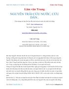 Ebook NGUYỄN TRÃI CỨU NƯỚC CỨU DÂN Lâm văn Trung