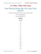 Ebook Nam Phương Hoàng hậu cuối cùng Triều Nguyễn Lý Nhân Phan Thứ Lang