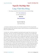 Ebook Làng Vĩnh Hòa Đông Nguyễn Thị Diệp Mai