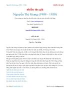 Ebook Nguyễn Thị Giang 1909 1930 nhiều tác giả