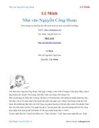Ebook Nhà văn Nguyễn Công Hoan Lê Minh