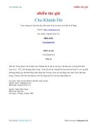 Ebook Chu Khánh Dư nhiều tác giả