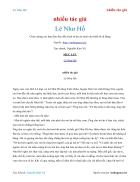 Ebook Lê Như Hổ