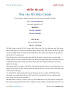 Ebook Nhà văn Hồ Biểu Chánh nhiều tác giả